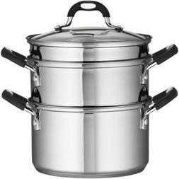 Tramontina 18/10 Stainless Steel 4-Piece 3-Quart Steamer/Dou