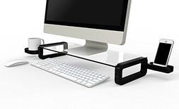 UBOARD BASIC - Tempered Glass Monitor Stand Shelf Multiboard