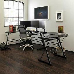 Walker Edison - Soreno L-shape Computer Desk With Sliding Ke