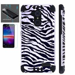 ZTE Slim Case + TEMPERED GLASS/Phone Brushed Armor Cover ZEB