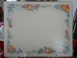 "Abundance Cutting Board Hot Plate  14"" W Tempered Glass Text"