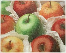 15 X 12 Assorted Apples Tempered Glass Surface Saver Cutting