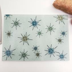 Atomic Starburst Retro Design Tempered Glass Cutting Board M