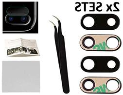 2X Back Rear Camera Glass Lens Cover Replacement + Tool + Gu