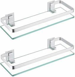 bathroom glass shelf anodized aluminum tempered glass