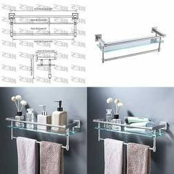 KES SUS304 Stainless Steel Bathroom Glass Shelf Wall Mount w