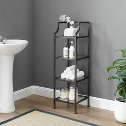 Bathroom Shelves Storage Glass Shelf Shower Bath Rack Organi