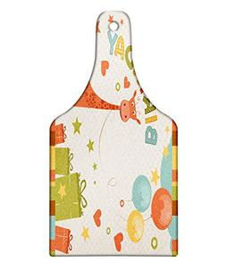 Ambesonne Birthday Party Cutting Board, Old Cartoon Giraffe