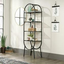 Sauder Boulevard Cafe Open Bookcase/Display Shelving, Black