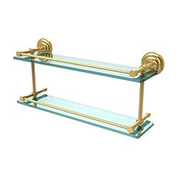 Allied Brass QN-2/22-GAL-PB Que New 22-Inch Double Glass She