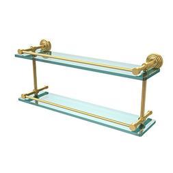 Allied Brass WP-2/22-GAL-PB Waverly Place 22-Inch Double Gla