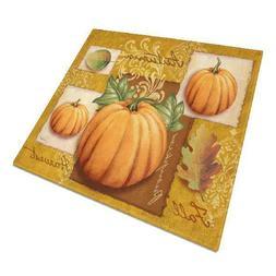 caroline s treasures fall harvest pumpkins glass