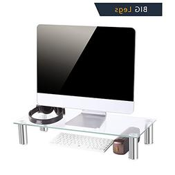 TAVR Clear Computer Monitor Stand Desktop Riser with Tempere
