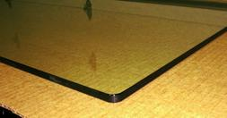 """Clear Tempered Glass Table Tops and Shelves 52"""" x 19"""" x 3/8"""""""
