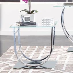 coaster 704987 co glass top end table