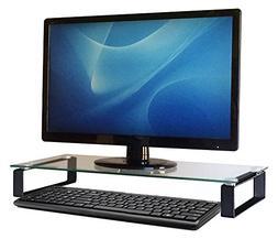 Carrara Computer Monitor Stand - Desk Shelf - Printer Stand