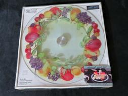 Conimar/Corelle Fruit Ring 14-Inch Tempered Glass Lazy Susan