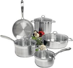 Chantal Cookware Set Tempered Glass Lid Stainless Steel Cook