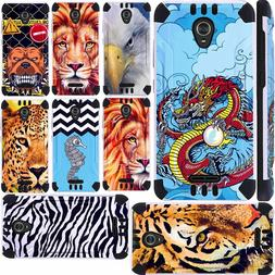 For CRICKET WAVE 2018 Phone Case Cover+TEMPERED GLASS Hybrid