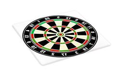 Ambesonne Sports Cutting Board, Dart Board Numbers Sports Ac
