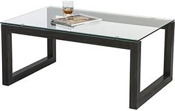 Mango Steam Dakota Coffee Table - Charcoal Black - Clear Tem