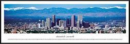Denver, Colorado - Blakeway Panoramas Skyline Posters with S