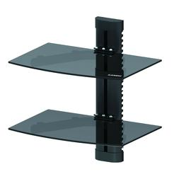 Emerald Double/ Dual DVD Shelf Wall Mount For Cable Box/XBOX