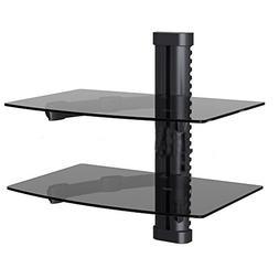 NDA-Electronics Dual Tempered Glass Rack Shelf Wall Mount TV