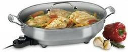 CUISINART Electric Skillet w/ tempered glass lid CSK-150 non