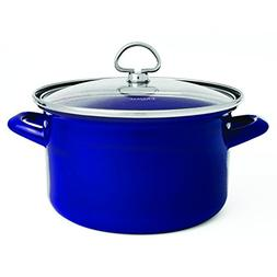 Chantal Enamel-On-Steel 4-Quart Soup Pot with Tempered Glass