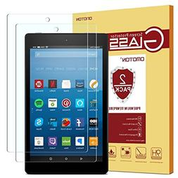 OMOTON Screen Protector for All-New Fire HD 8 , Tempered Gl