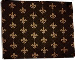 "FLEUR DE LIS Tempered Glass Cutting Board, 9.75"" x 7.75"" by"