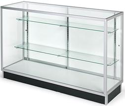 Free-Standing Glass Display Cabinet, 60 x 38 x 20-Inch, Temp