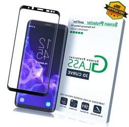 Galaxy S9 Plus Screen Protector Glass, amFilm 3D Curved Dot