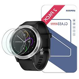 Garmin Vivoactive 3 Screen Protector, Wimaha 2 Pack Tempered
