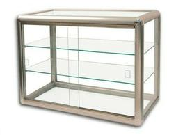 Glass Display Case Bronze Countertop Cabinet Case Showcase F