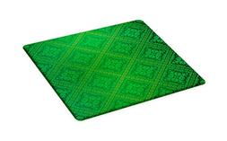 Ambesonne Green Cutting Board, Vector Illustration Seamless