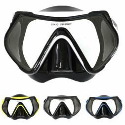 HK- Adult Tempered Glass Lens Anti-fog Swimming Snorkeling S
