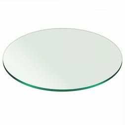 """48"""" Inch Plate Glass Round Glass Table Top 3/8"""" Thick Pencil"""