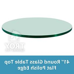 "41"" Inch Round Glass Table Top, 1/4"" Thick, Flat Polish Edge"