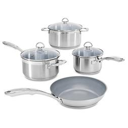 Chantal Induction 21 Steel 7 Piece Ceramic Coated Cookware S