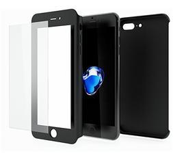 iPhone 7 PLUS 360 Case, iPhone 7 PLUS Full Body Case with Te