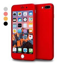 iPhone 7 Plus Case, VANSIN 360 Full Body Protection Hard Sli