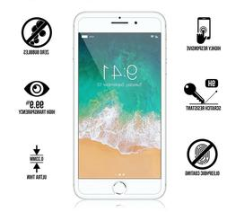 For iPhone 8 Plus, 7 Plus Protect Tempered Glass Screen Cove