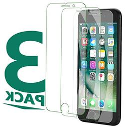 3Pack iPhone 8 Plus Tempered Glass Clear Sreen Protector, No