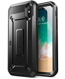 SUPCASE iPhone X, iPhone Xs Case, Full-Body Rugged Holster C