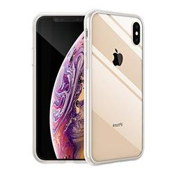 Vemsoul iPhone Xs Max Case, Clear Tempered Glass Back and Pr