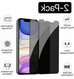 iPhone X XS XR XS Max 11 12 Pro Privacy Anti-Spy Tempered Gl