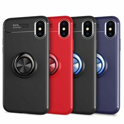 For iPhone X XS XR XS Max 7 8 Plus Metal Magnetic Ring Holde