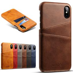 Dooqi For iPhone XS Max XR PU Leather Wallet Card Slot Holde